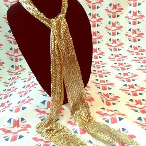 Vintage Gold Mesh Necklace/Belt
